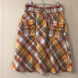Metrostyle multicolored plaid skirt